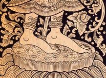 Les détails de la porte de temple Photo libre de droits