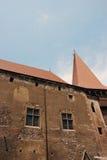 Les détails du château du Corvin Image stock