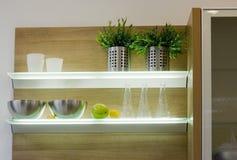 Les détails modernes de cuisine Image stock