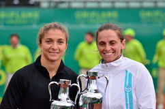 Les dames de Barcelone ouvrent 2012 - des doubles finaux Photo stock