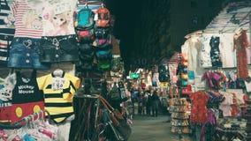 Les dames lancent sur le marché dans le mongkok Photos libres de droits