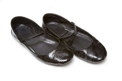 les dames noires appareillent des chaussures Photos libres de droits