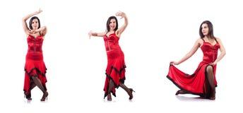 Les danses de danse d'Espagnol de danseur féminin Photos libres de droits