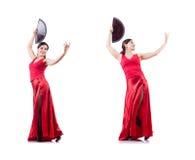 Les danses de danse d'Espagnol de danseur féminin Photo libre de droits