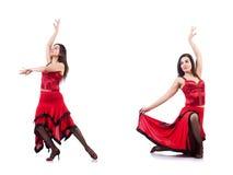 Les danses de danse d'Espagnol de danseur féminin Photos stock