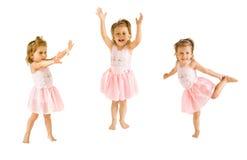 Les danses de petite fille Photographie stock libre de droits