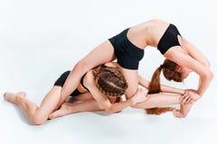 Les danseurs d'école de danse d'enfants, de ballet, de hiphop, de rue, géniaux et modernes Image stock