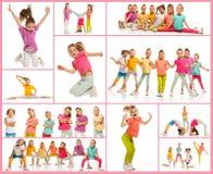 Les danseurs d'école de danse d'enfants, de ballet, de hiphop, de rue, géniaux et modernes photographie stock libre de droits