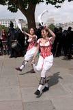 Les danseurs de Morris exécutent chez le Southbank Photos libres de droits