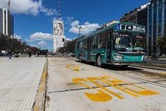 Les 9 De Julio Avenue à Buenos Aires, Argentine Images stock