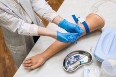 Les in de medische klasse Stock Afbeelding