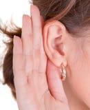 Les demandes écoutent Photo stock