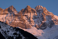 Les Dents-du-Midi Stock Photography