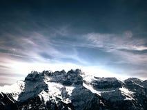 Les Dents du Midi Mountain Royalty Free Stock Image