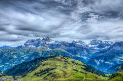 Les Dents du Midi, Wallis, Switzerland Royalty Free Stock Photography
