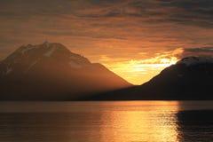 Les derniers rayons du soleil de configuration Photo libre de droits