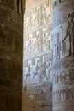 Les dessins antiques sur le mur Photo libre de droits