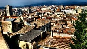 Les dessus de toit de Gérone Image stock