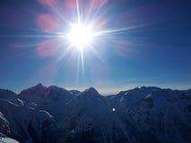 Les-deux Alpen Stockfotografie