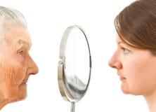 Les deux côtés d'un miroir photos libres de droits