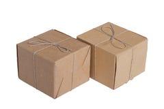 Les deux caisses d'emballage  Photo stock
