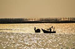 Les deux pêcheurs Image libre de droits