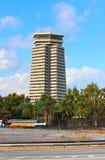 Les deux points d'Edificio à Barcelone, Espagne Image stock