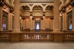 Les deux points historiques de Teatro à Buenos Aires images libres de droits