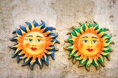 Les deux soleils image stock