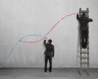 Les deuxièmes concepts de courbe photographie stock libre de droits