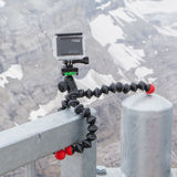 LES DIABLERETS, SWITZERLAND - JULY 22, 2015: Closeup of GoPro He Royalty Free Stock Photography
