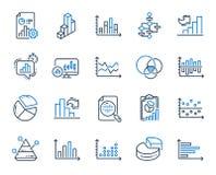 Les diagrammes et les diagrammes rayent des ic?nes Placez des ic?nes du sch?ma fonctionnel du diagramme 3D, et de Dot Plot de gra illustration libre de droits