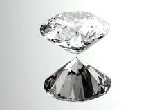 les diamants 3D rendent Pierre gemme de bijoux Photo stock