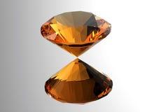 les diamants 3D rendent Pierre gemme de bijoux Image libre de droits