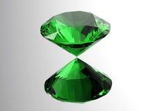 les diamants 3D rendent Pierre gemme de bijoux Images libres de droits
