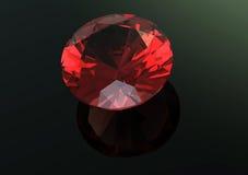 les diamants 3D rendent Pierre gemme de bijoux grenat Image libre de droits