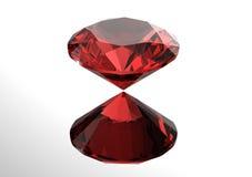 les diamants 3D rendent Pierre gemme de bijoux grenat Image stock