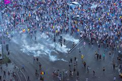 Les Diaspora protestent à Bucarest contre le gouvernement Images stock
