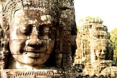 Les dieux antiques d'Angkor, Cambodge Photo libre de droits
