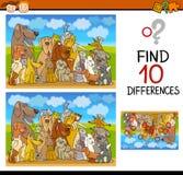 Les différences chargent pour des élèves du cours préparatoire illustration de vecteur