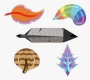 Les différentes clavettes d'oiseau. Image stock