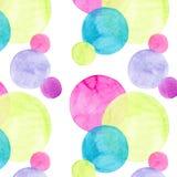Les différentes formes de beaux cercles colorés lumineux transparents merveilleux tendres artistiques abstraits modèlent l'aquare Photo libre de droits