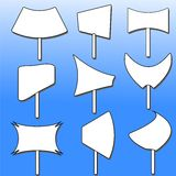 Les différentes formes des panneaux-réclame Image libre de droits