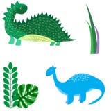 Les dinosaures de bande dessinée dirigent les prehis animaux de Dino de monstre d'illustration illustration libre de droits