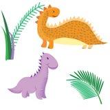 Les dinosaures de bande dessinée dirigent les prehis animaux de Dino de monstre d'illustration illustration de vecteur