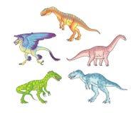 Les dinosaures ont placé 2 Illustration Stock