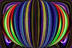 Les discriminations raciales et les courbes crée l'image fantastique d'elipse illustration de vecteur