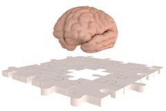 Les disparus de cerveau de morceau de puzzle Photographie stock