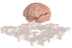 Les disparus de cerveau de morceau de puzzle construisent Image stock
