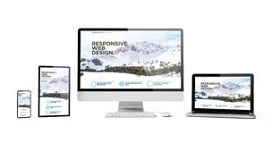les dispositifs sensibles ont isolé la montagne sensible de page d'accueil de conception photos libres de droits